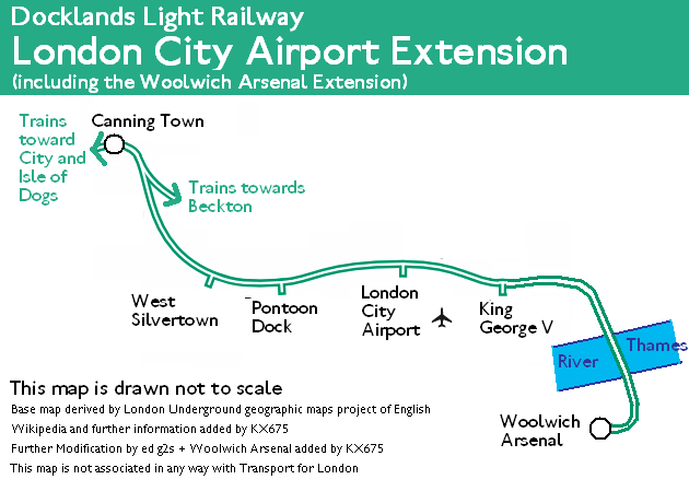 London Light Rail Map.Top 10 Punto Medio Noticias London City Airport Dlr Station Map