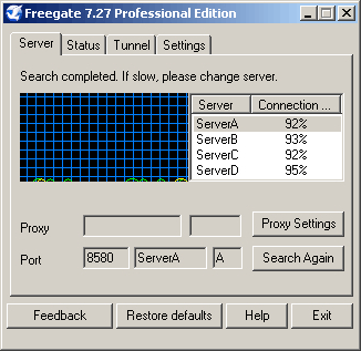 Freegate screenshot