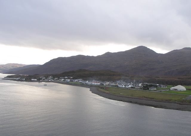 A view of the village, from the Skye Bridge