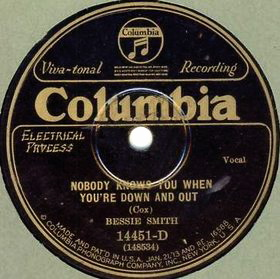 Nobody Knows You When Youre Down and Out Early blues standard written by Jimmy Cox