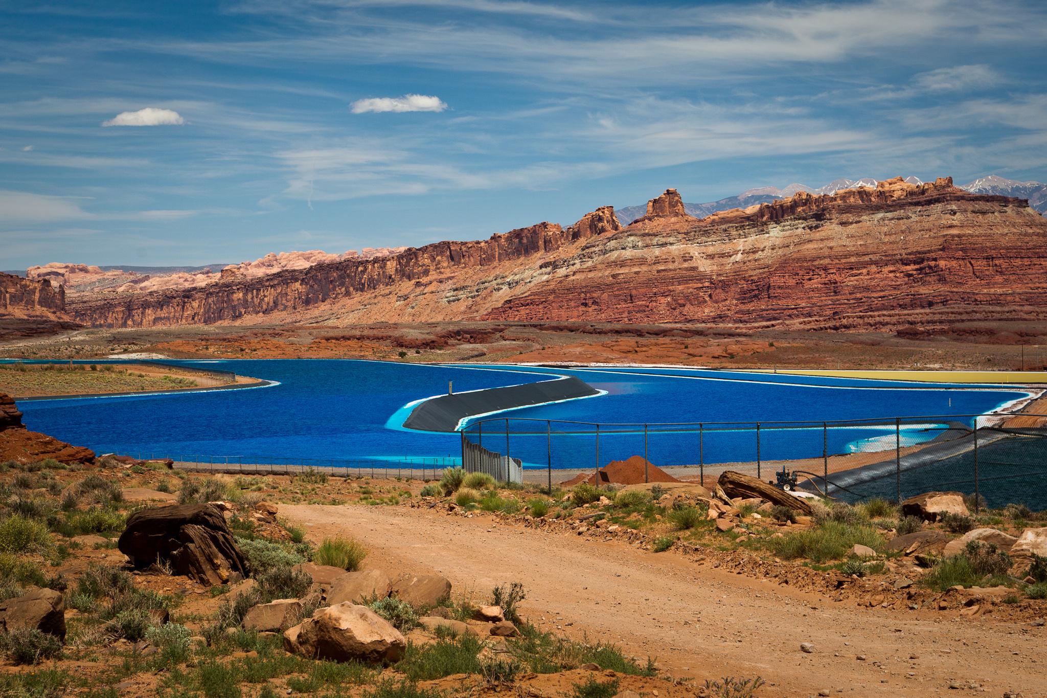 Potash evaporation ponds near Moab, UT, May 2013.jpg