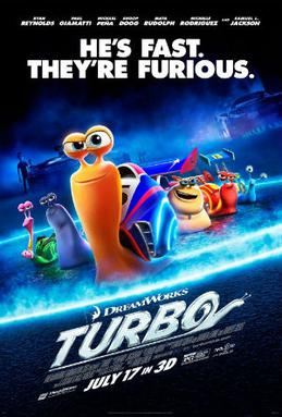 Movie release poster for Turbo, courtesy 20th Century Fox and DreamWorks Animation