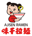 Company logo of Ajisen Ramen, featuring a little girl in a red dress holding a bowl of ramen