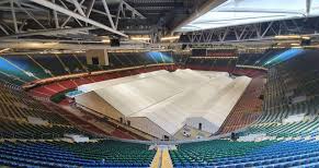 Dragons Heart Hospital Temporary NHS COVID-19 hospital set up in the Millennium Stadium