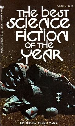 The best science fiction of the year edited by terry carr , ballantine