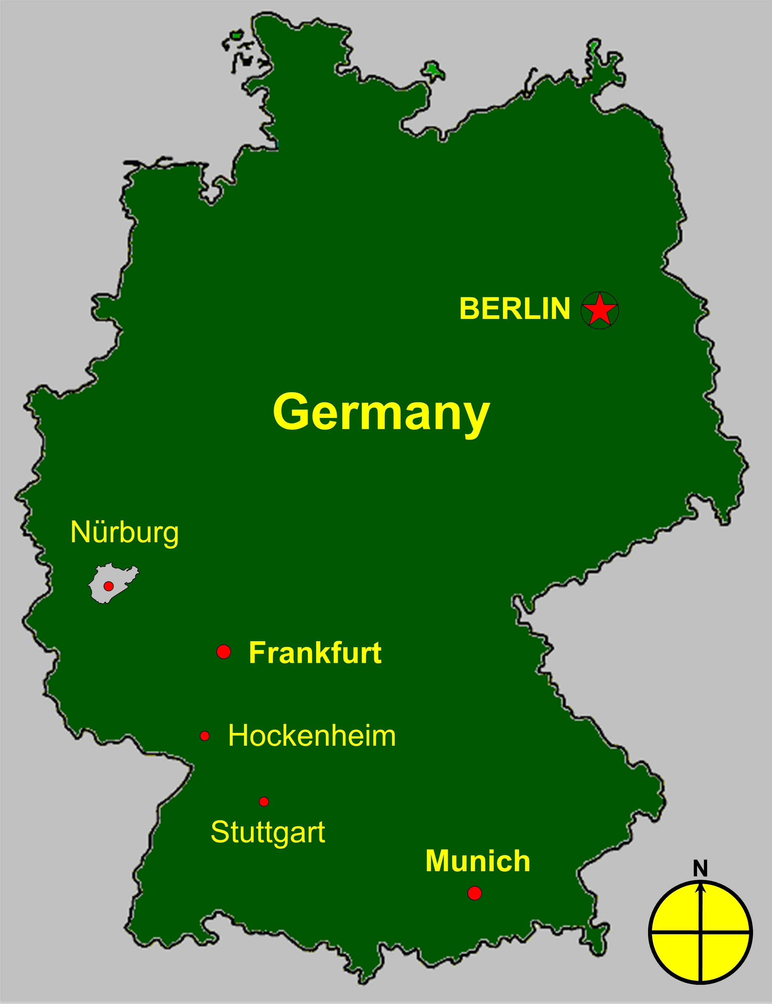 Nürburgring Wikipedia - Germany map simple