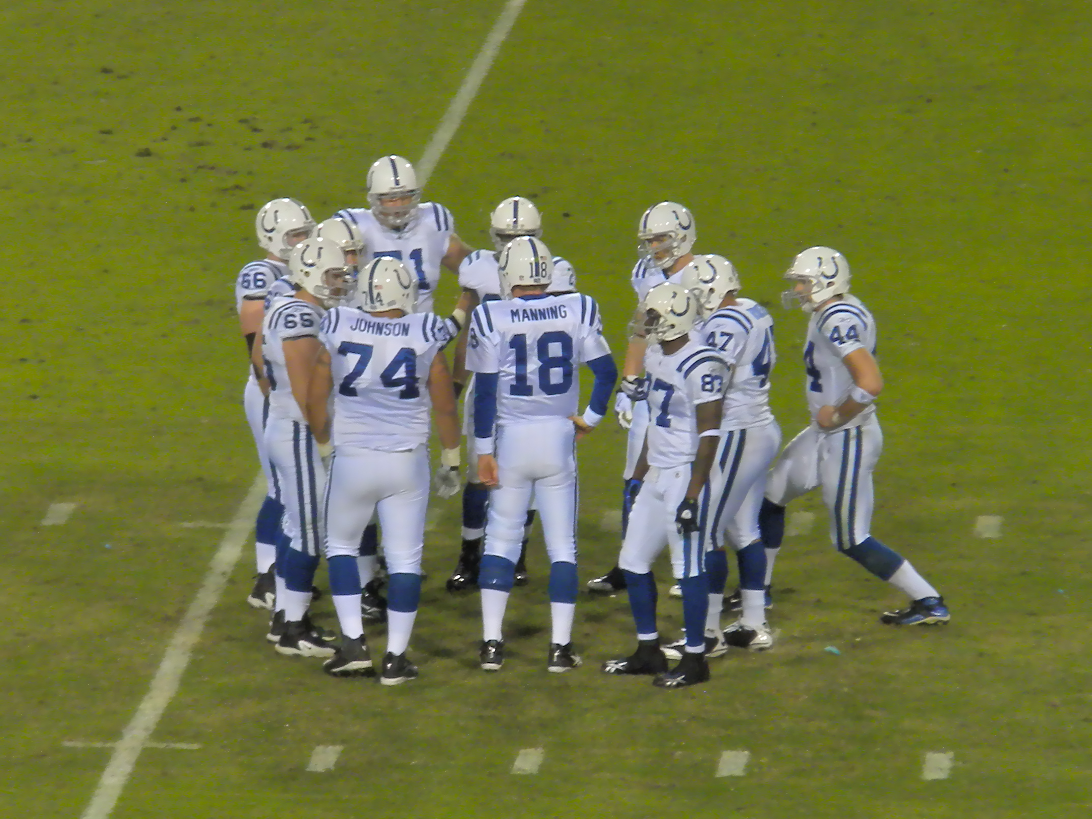 Manning and his teammates in a game against the Jacksonville Jaguars. Under  new ... 4325fd126