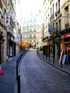 Rue de la Harpe street in Paris, France