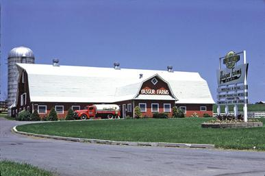 Max Yasgur's dairy farm in 1968 Yasgur farm in 1968.jpg