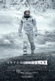 Interstellar 2014 USA Christopher Nolan Matthew McConaughey Anne Hathaway Jessica Chastain  Adventure, Sci-Fi