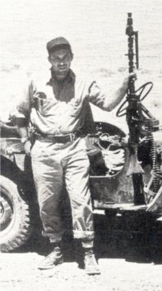 Picture of Leon Uris (Leon Uris with a patrol ...