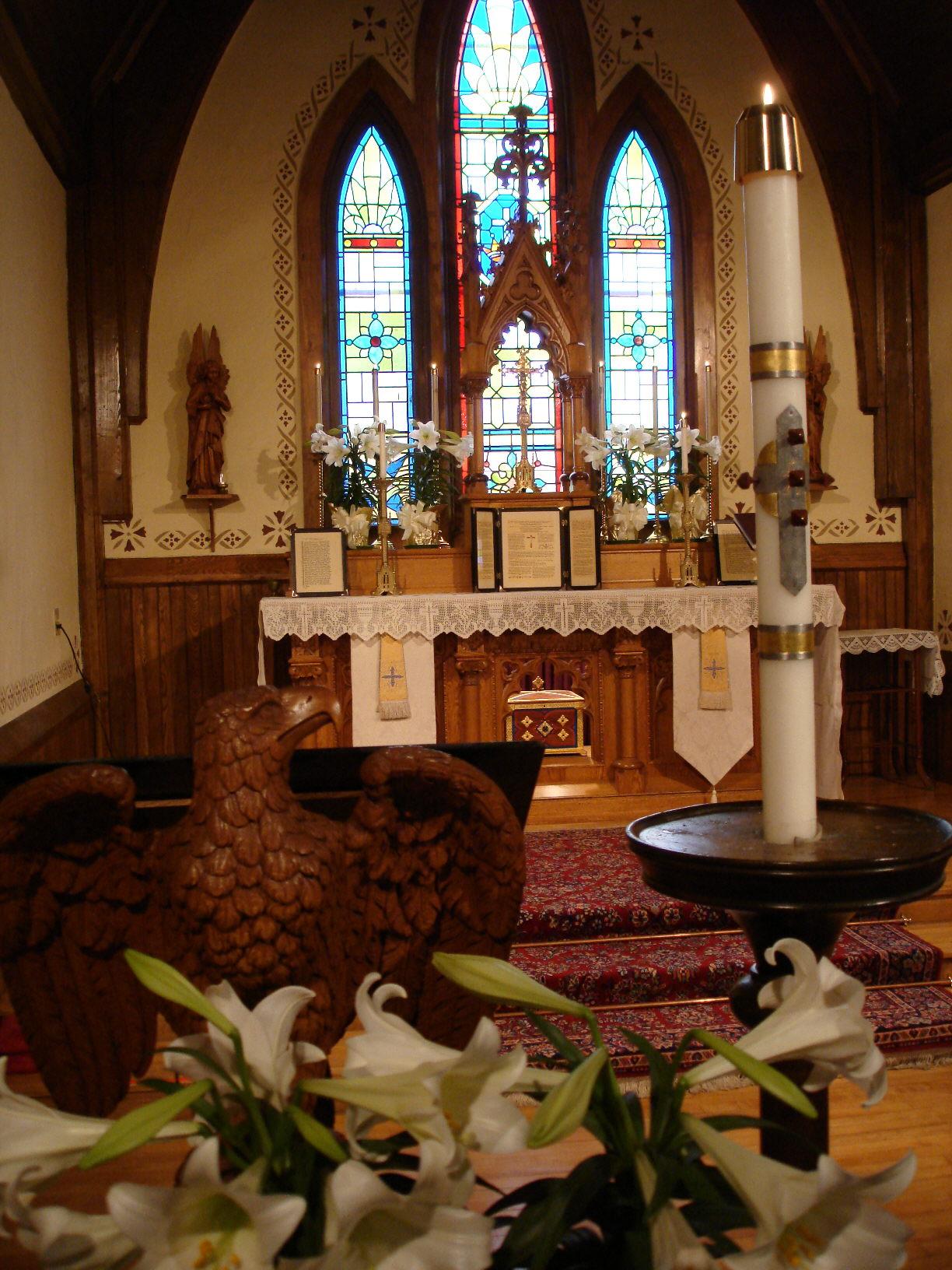File St Agnes Church Algoma Wi Altar At Easter Jpg