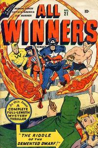 All Winners Squad #21 (Winter 1946/47). Cover ...