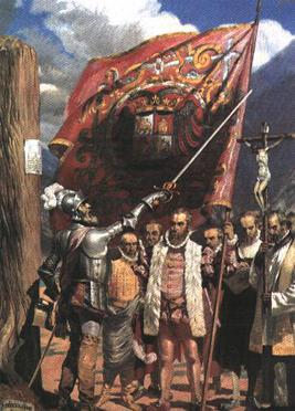Pizarro and his followers in Lima in 1535 Pizarro in Lima.JPG