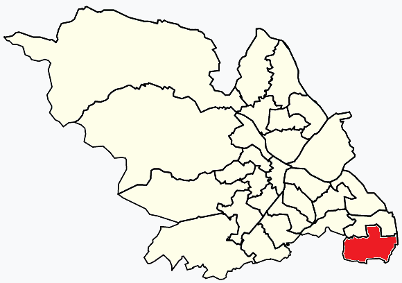 Mosborough Sheffield, map