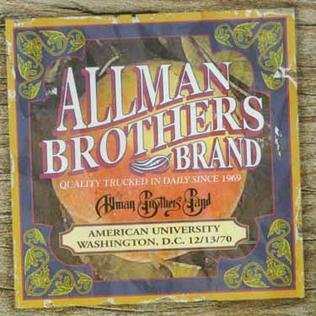 <i>American University 12/13/70</i> 2002 live album by The Allman Brothers Band