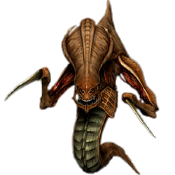 A Zerg hydralisk, as seen in StarCraft.