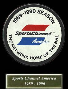 SportsChannel America was the American rights holder of the National Hockey League from 1988 to 1992. The logo seen here was used from 1980 to 1995.