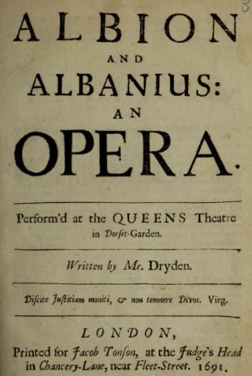 Albion and Albanius - Wikipedia