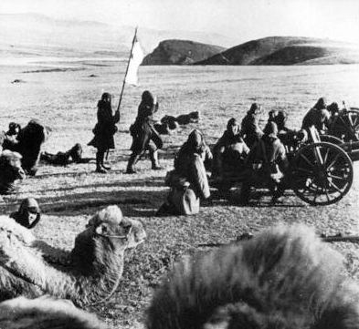 A Type 41 75 mm mountain gun during an Imperial Army exercise Manchukuo army artillery training.png