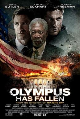 Movie release poster for Olympus Has Fallen, courtesy Millennium Films