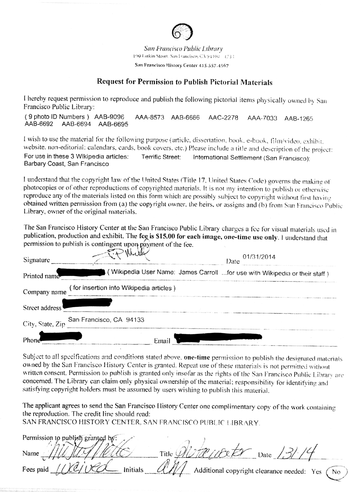 File:Permission Form to Use Photos from San Francisco Library ...