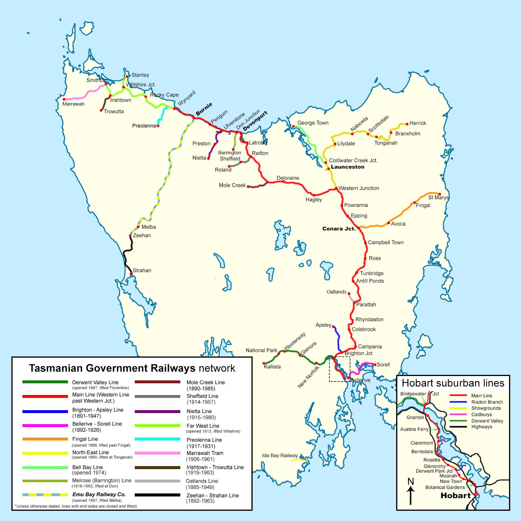 Rivers Of Tasmania Map