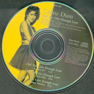Did You Give Enough Love 1993 single by Celine Dion