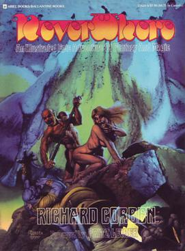 Neverwhere, 1978. This is the first Den comics collection, cover art by Corben.