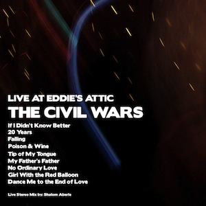 <i>Live at Eddies Attic</i> 2009 live album by The Civil Wars