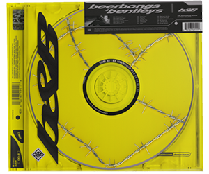 A disc wrapped in barbed wire inside a jewel case