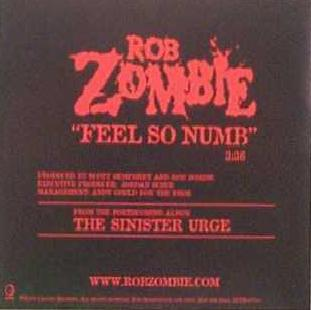 Feel So Numb 2001 single by Rob Zombie