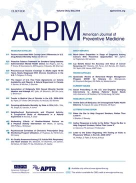 American Journal of Preventive Medicine - Wikipedia