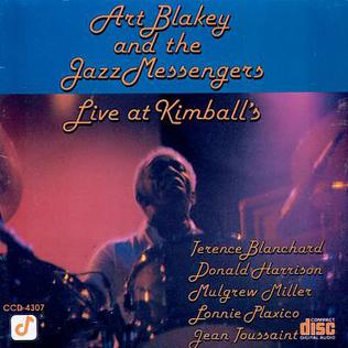 <i>Live at Kimballs</i> 1985 live album by Art Blakey and the Jazz Messengers