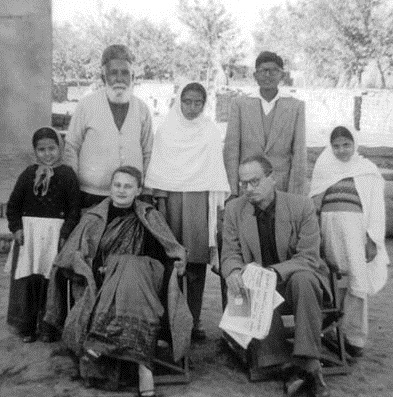 Muhammad Asad (seated right) and his wife Pola Hamida Asad (seated left) at the residence of Chaudhry Niaz Ali Khan in Jauharabad, Pakistan. Circa 1957 ChNiazAliKhan2.jpg