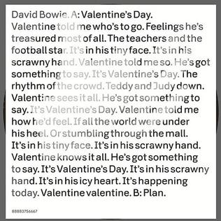 valentines day david bowie song wikipedia