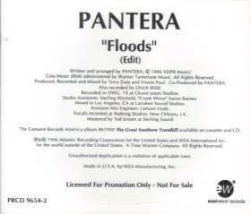 Floods (Pantera song) single by Pantera
