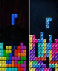 The Tetris Company won its case against Xio Interactive, on the basis that Xio's game Mino (right) copied too much of the look-and-feel of Tetris (left). Mino-tetris-comparison.jpg