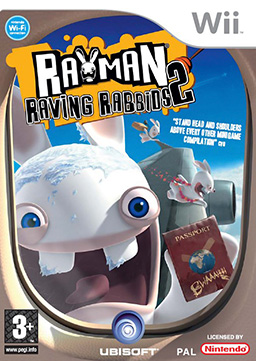 PAL cover version of Rayman Raving Rabbids 2