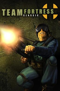 The CD case box art for <em>Team Fortress Classic</em>