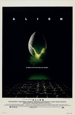 "The classic Alien movie poster.  ""In space, no one can hear you scream."""