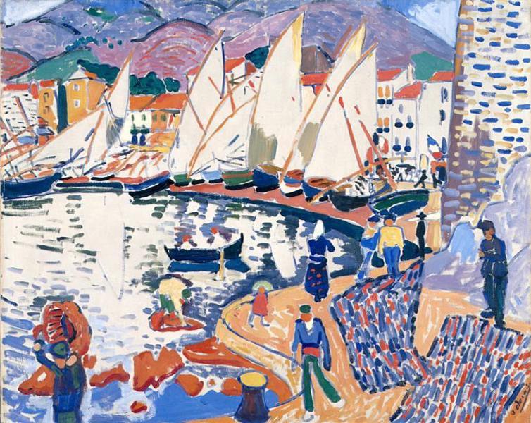 André Derain, 1905, Le séchage des voiles (The Drying Sails) Fauvism