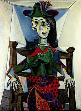 "Pablo Picasso ""Dora Maar With Cat"" (1941)"