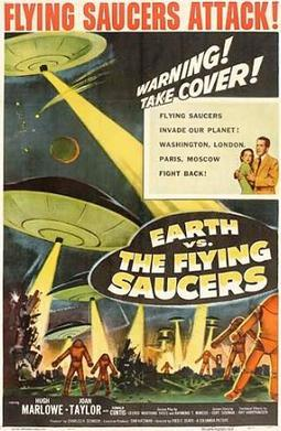 Movie poster for Earth vs the Flying Saucers