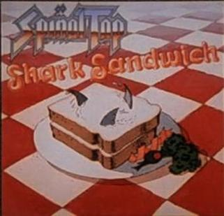 The cover for Shark Sandwich, one of the band's later fictional albums Spinal Tap 2.jpg