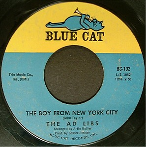 The Boy from New York City 1964 single by The Ad Libs