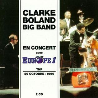 <i>Clarke Boland Big Band en Concert avec Europe 1</i> album