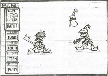 Early concept art of the card-based battle system KH-COM-ConceptArt.jpg