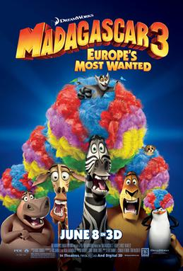 Download Madagascar 3: Europe's Most Wanted (2012) {Hindi-English} 480p | 720p