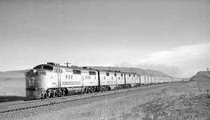 """City of San Franciso"" Train, in Wyoming.  1948"